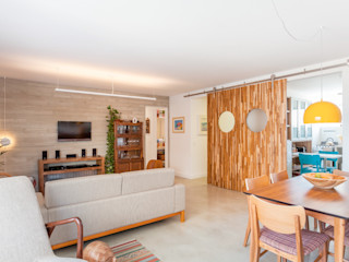 Nautilo Arquitetura & Gerenciamento Salon moderne Béton