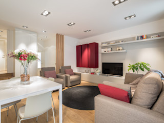 Laura Yerpes Estudio de Interiorismo Modern living room Red