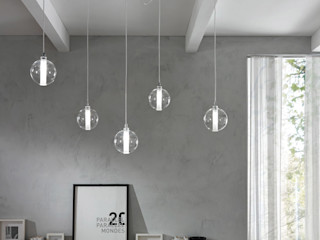 Cangini e Tucci Living roomLighting Glass