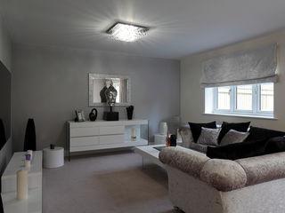 New Build Contemporary Interior Design Ealing Quirke McNamara 客廳 Metallic/Silver