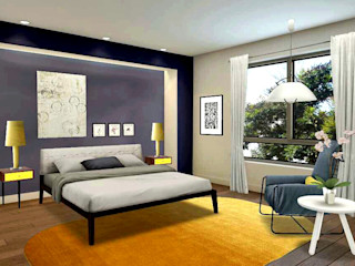 BEDROOM VISUAL IDEA Nik A Ramli Interior Design Modern style bedroom