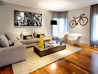 APARTAMENTO PINHEIROS - SP RUTE STEDILE INTERIORES Salas de estar modernas
