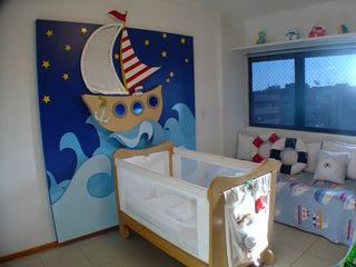 Marcela Lyra Miranda Complementto D モダンデザインの 子供部屋