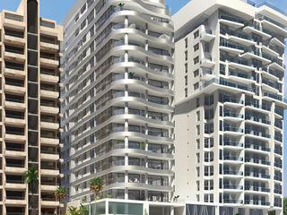 Area5 arquitectura SAS Modern Balkon, Veranda & Teras Metalik/Gümüş