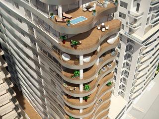 Area5 arquitectura SAS Modern Balkon, Veranda & Teras Seramik Ahşap rengi