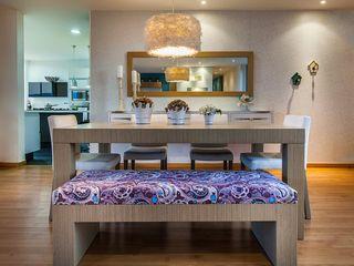 Cristina Cortés Diseño y Decoración Sala da pranzoTavoli