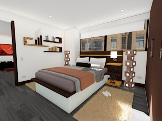 OGGETTO ARQUITECTOS Modern style bedroom