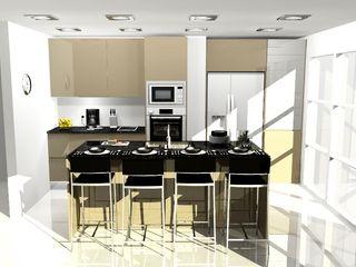 COCINA COMBINADA ARCE FLORIDA Cocinas de estilo moderno Madera Acabado en madera