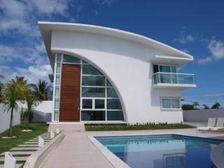 CHASTINET ARQUITETURA URBANISMO ENGENHARIA LTDA Rumah Modern Kaca White