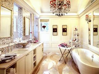 Residential Bathroom in Shenzhen, China ShellShock Designs Asian style bathroom Tiles Multicolored