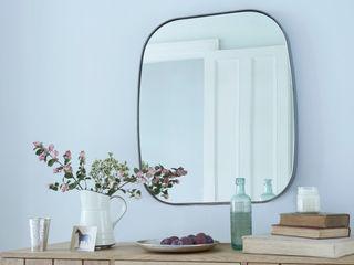 Albie mirror Loaf LivingsDecoración y accesorios Vidrio Metálico/Plateado