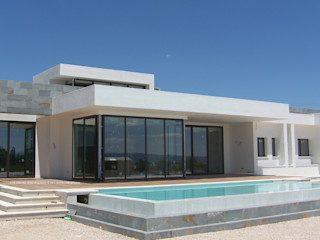 DYOV STUDIO Arquitectura, Concepto Passivhaus Mediterraneo 653 77 38 06 빌라 석회암 화이트