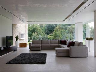 Realizzazioni MD WORK SRL 现代客厅設計點子、靈感 & 圖片