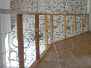 ABC Design d'Espace Pasillos, vestíbulos y escaleras de estilo rústico