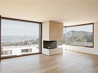 meier architekten zürich Living roomFireplaces & accessories