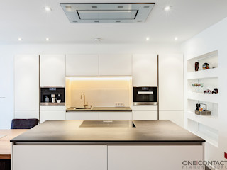 ONE!CONTACT - Planungsbüro GmbH Cocinas modernas: Ideas, imágenes y decoración Blanco