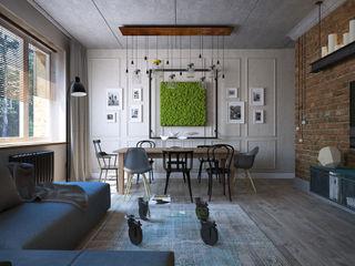 Студия Семена Вишнякова '1618 ROOM' Salas de estilo industrial