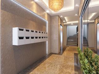 MİNERVA MİMARLIK Vestíbulos, pasillos y escalerasAccesorios y decoración Mármol Beige