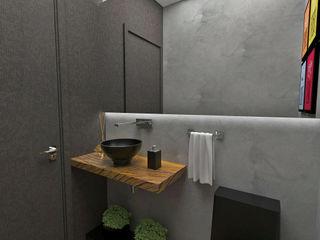 Atelier Par Deux Eclectic style bathroom Wood Grey