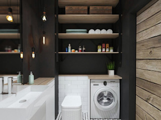 PASS architekci Industrial style bathroom