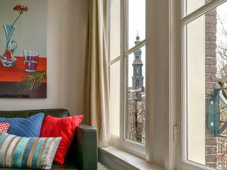 Aileen Martinia interior design - Amsterdam Salones de estilo moderno Cerámico Rojo