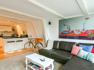 Aileen Martinia interior design - Amsterdam Salones de estilo minimalista Plástico Turquesa