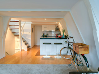 Aileen Martinia interior design - Amsterdam Cocinas de estilo moderno Granito Blanco