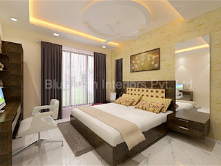 Residential 4BHK flat in Mulund, Mumbai Bluearch Architects & Interiors Modern Bedroom Plywood Wood effect