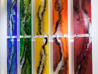 Ana Maria Nava Glass Modern bars & clubs Glass Multicolored