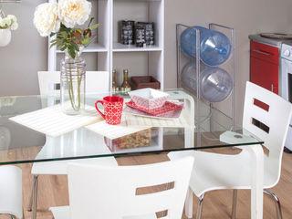 Idea Interior CocinaMesas y sillas Vidrio Blanco