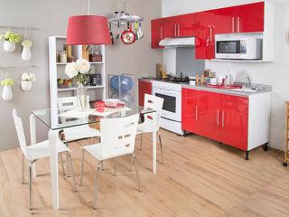 Idea Interior CocinaEstanterías y gavetas Aluminio/Cinc Rojo