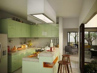 mousa / Inspiración Arquitectónica Cocinas de estilo moderno Verde