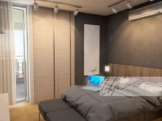 Proyecto unifamiliar Apartamento El Parral Arq.AngelMedina+ Cuartos de estilo minimalista Madera Marrón