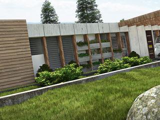 Concurso de diseño: Vivienda Unifamiliar de Bajo Costo (mencion honorifica) Arq.AngelMedina+ Casas de estilo minimalista Concreto Gris