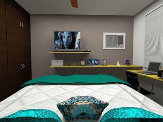 MV Arquitetura e Design モダンスタイルの寝室