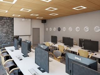 Ale design Grzegorz Grzywacz Sala multimediale minimalista