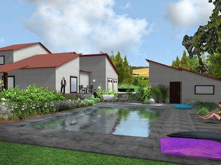 Jardin de banquettes Anthemis Bureau d'Etude Paysage Jardin moderne