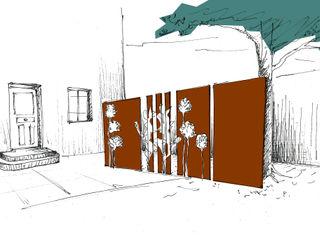 Jardin graphique Anthemis Bureau d'Etude Paysage Jardin moderne