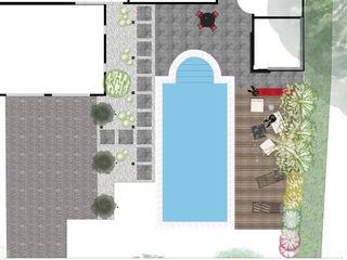 Jardin minéral Anthemis Bureau d'Etude Paysage Jardin moderne