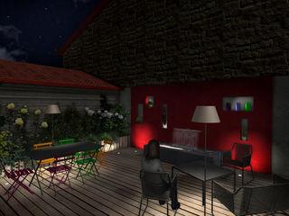 Jardin suspendu Anthemis Bureau d'Etude Paysage Balcon, Veranda & Terrasse modernes