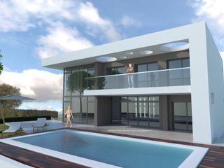 DYOV STUDIO Arquitectura, Concepto Passivhaus Mediterraneo 653 77 38 06 Casas modernas Caliza Blanco