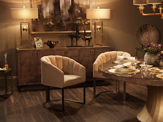 Metropolitan Luxe LuxDeco Dining roomChairs & benches Amber/Gold