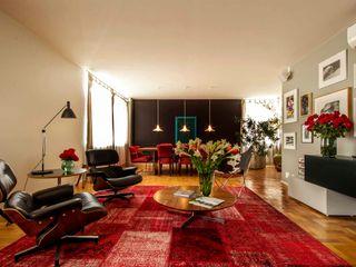 acr arquitetura Living room Red