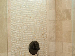 Diamond Freshwater Mother of Pearl Bathroom ShellShock Designs Modern bathroom Tiles Multicolored