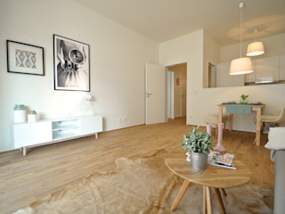 Retro-modern Karin Armbrust - Home Staging Ausgefallene Wohnzimmer