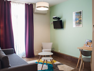 Home Staging - Cannes B.Inside Salon scandinave Turquoise