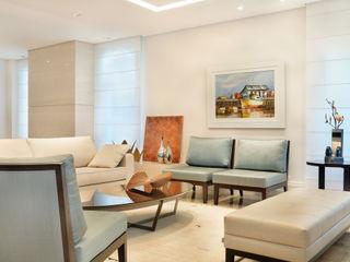 studio VIVADESIGN POR FLAVIA PORTELA ARQUITETURA + INTERIORES Salones de estilo moderno Azul