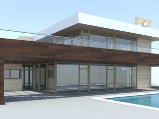 DYOV STUDIO Arquitectura, Concepto Passivhaus Mediterraneo 653 77 38 06 Casas de estilo mediterráneo Madera Beige
