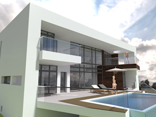 DYOV STUDIO Arquitectura, Concepto Passivhaus Mediterraneo 653 77 38 06 Casas de estilo mediterráneo Concreto Blanco