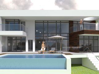 DYOV STUDIO Arquitectura, Concepto Passivhaus Mediterraneo 653 77 38 06 Casas de estilo mediterráneo Madera Blanco